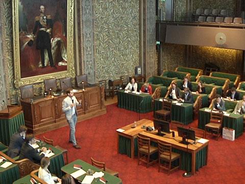 Debat met bankiers in de Eerste Kamer
